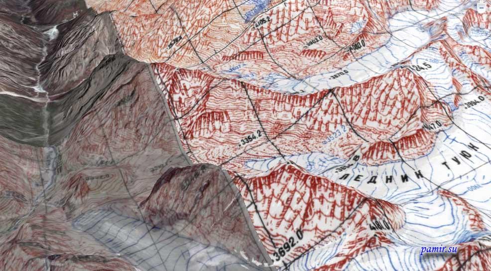 карта высот google